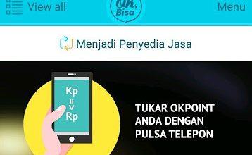 Cara Menukar Poin dan Bukti Pembayaran Pulsa All Operator dari Aplikasi OK Bisa