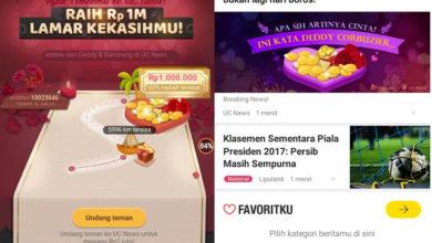 Tutorial Cara Mendapatkan Hadiah Uang Tinai 1 Juta Rupiah dari UC News