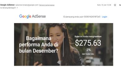 gaji google adsense bulan desember