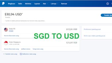 Konversi Dollar SGD Ke Dollar