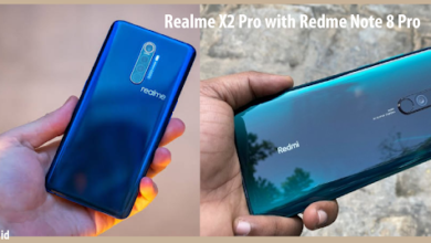 realme x2pro with redme note 8 pro
