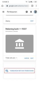 kelola metode pembayaran google adsense