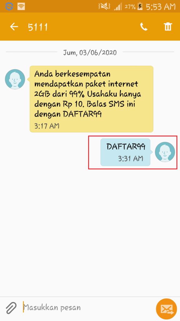 sms paket telkomsel 2GB