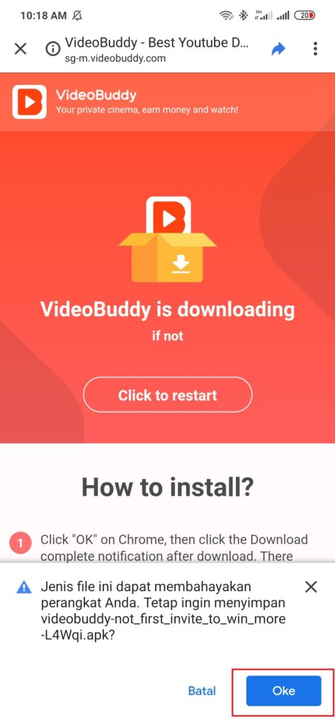 cara mendapatkan uang gratis gopay download aplikasi Videobuddy
