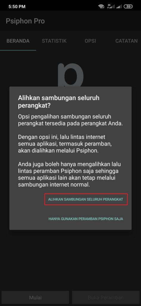 Merubah kuota Indosat Data 30GB