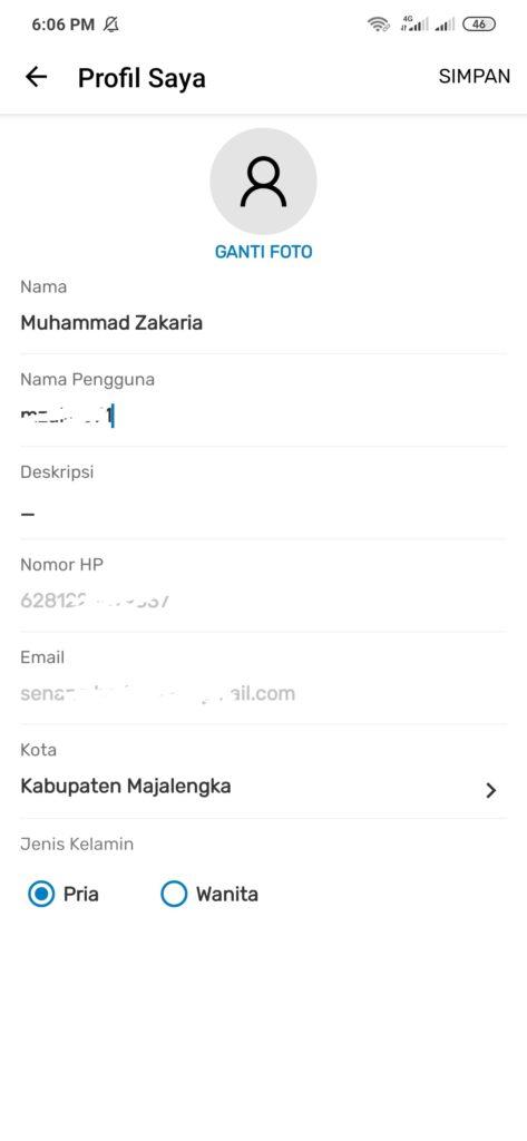 melengkapi profil