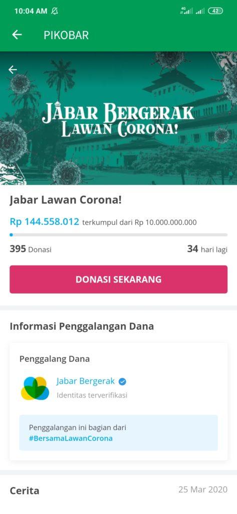 Donasi Virus Corona