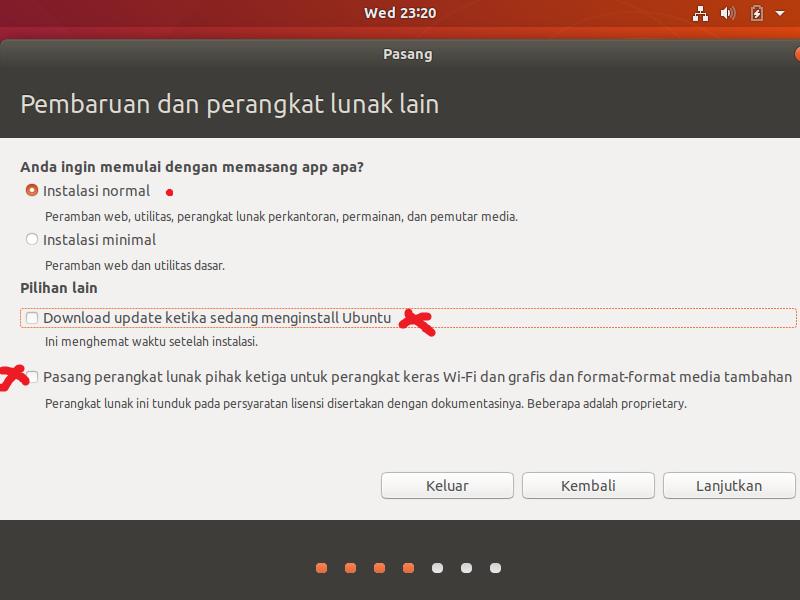 Instal Ubuntu Normal
