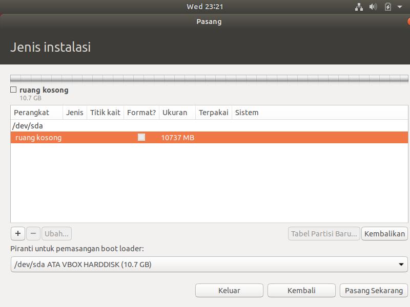Instalasi Ubuntu 18.04