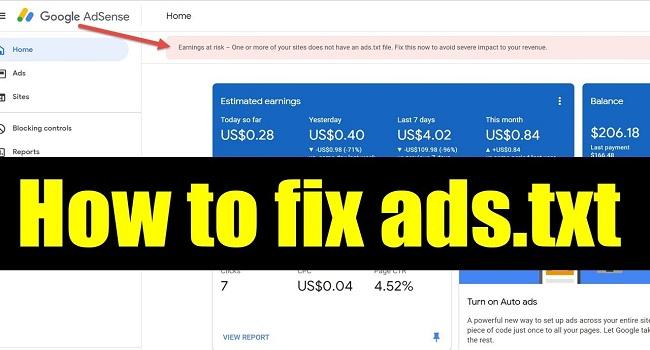 Mengatasi Masalah Ads Txt