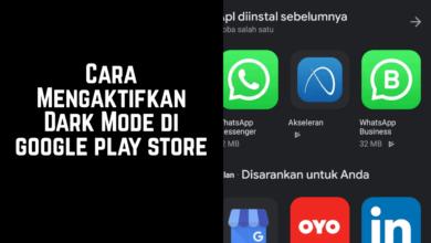cara mengaktifkan mode gelap play store