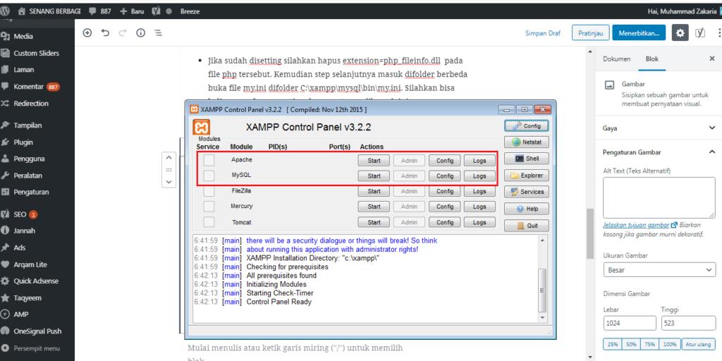 menjalankan Xampp
