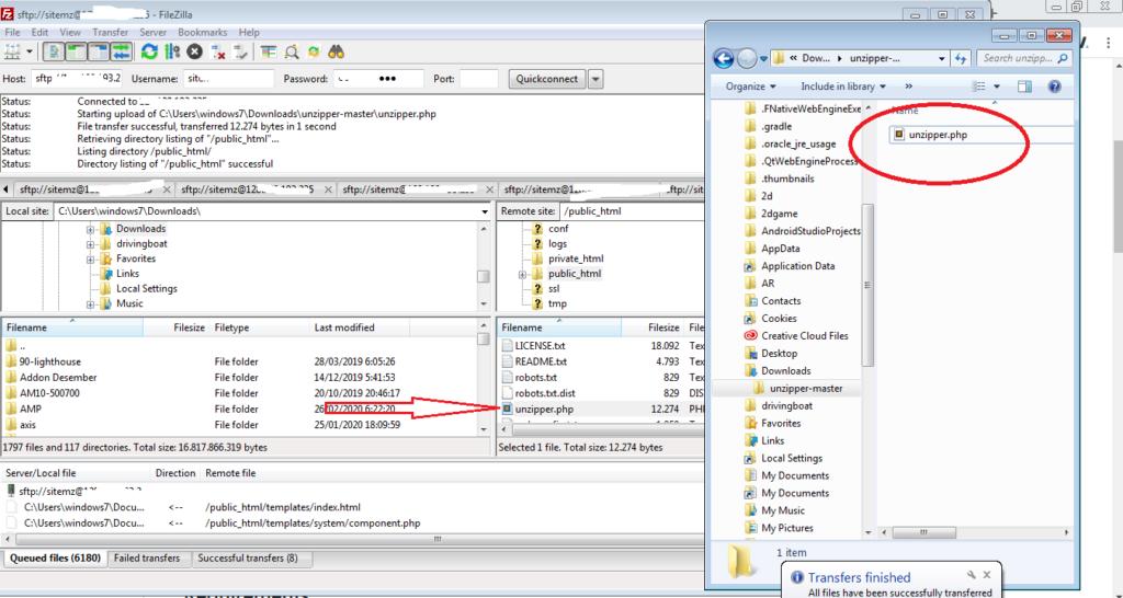 Cara Mudah Extract File dari FileZilla