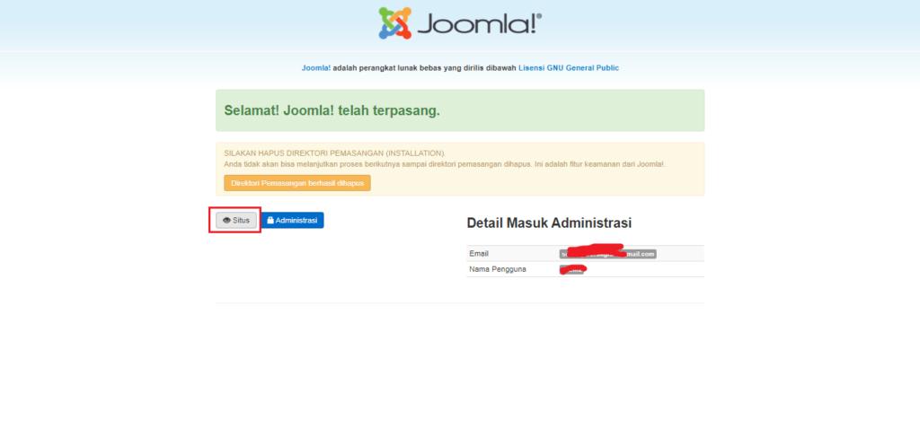 Cara mudah Instal Template Joomla Quickstart
