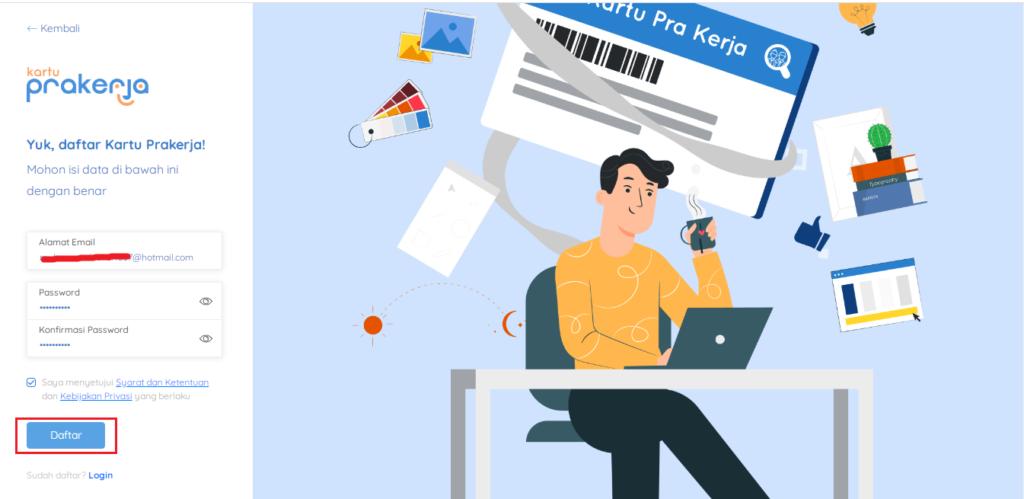 Cara Mudah daftar di Situs Kartu Prakerja