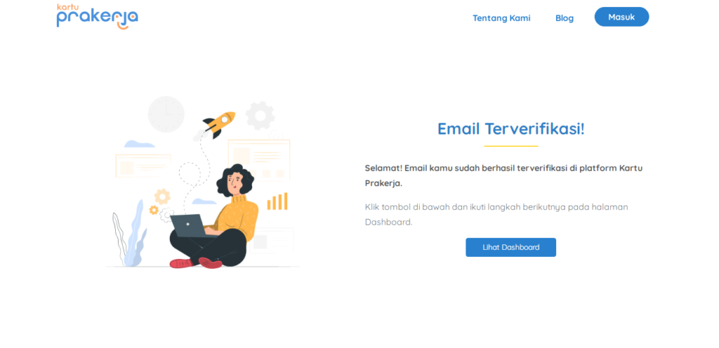 Cara Verifikasi Email Kartu Prakerja