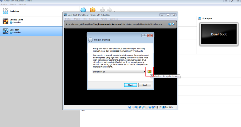 Cara Mudah Instal DualBoot dari VirtualBox