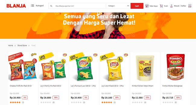 Situs Jual makanan online terbaik