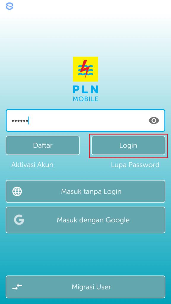 login PLN Mobile