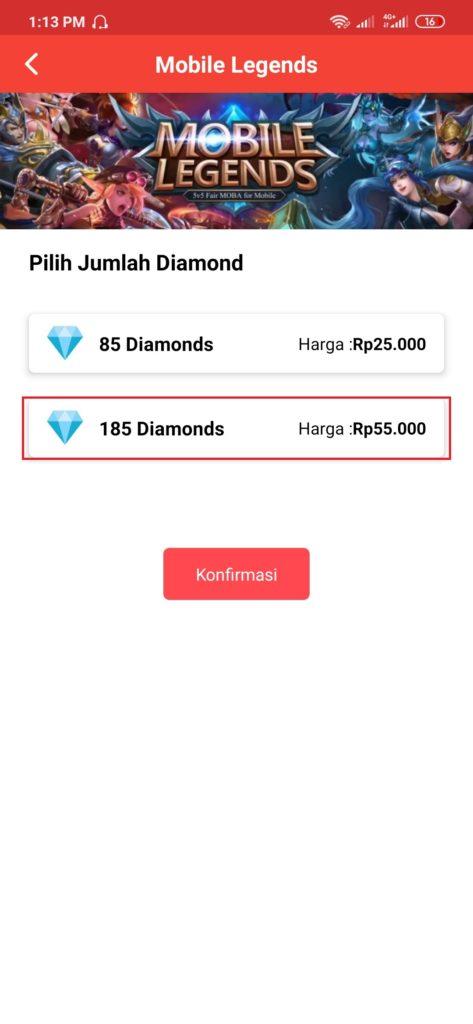Diamonds Gratis Mobile Legends