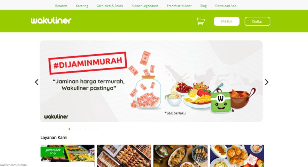 Situs jual makanan online terbaik Wakuliner