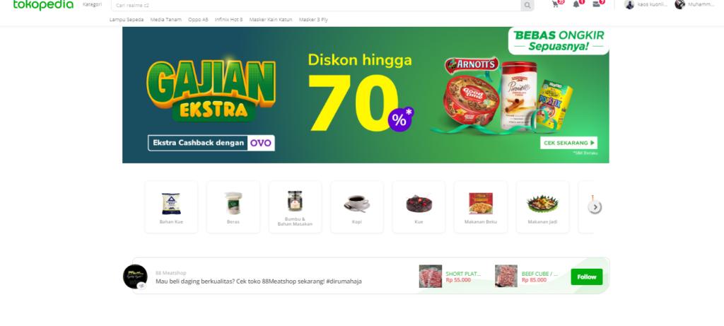 Tokopedia situs jual makanan
