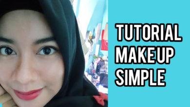 tutorial make up simple, make up simple, tutorial make up, beauty, simple, mudah
