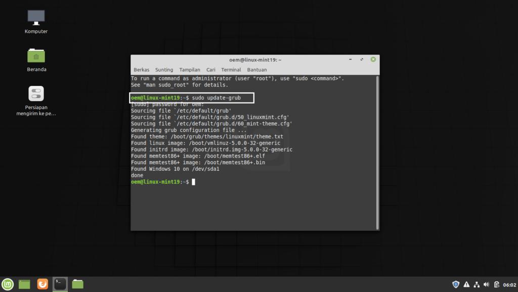 Grub Linux Mint