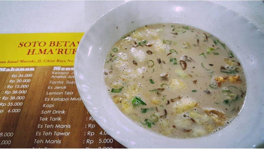 empat Makan Populer di Jakarta Soto Betawi