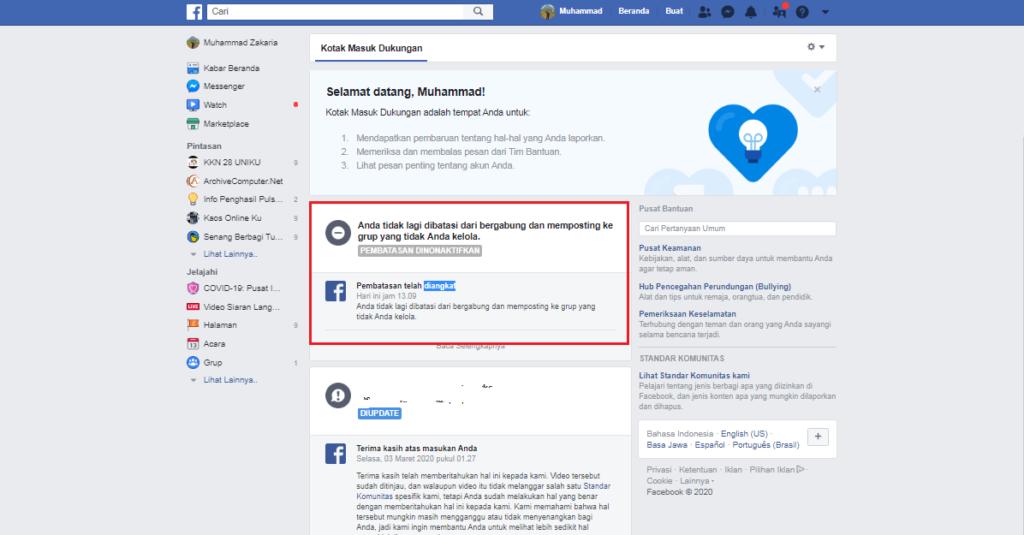 Cara Mengatasi Pesan Anda tidak dapat dikirim di Facebook