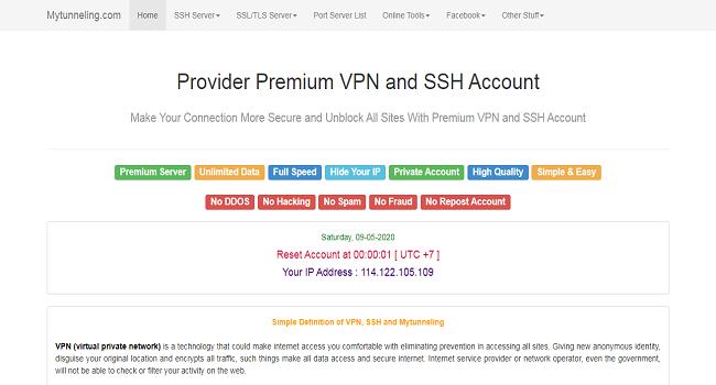 MyTunneling SSH penyedia akun ssh