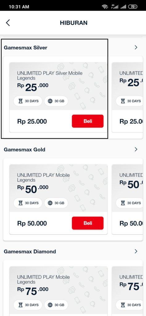 Paket GamesMax Silver