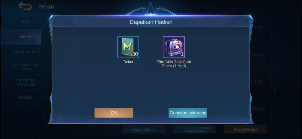 Cara Mengecek Hadiah dari Event 515 Mobile Legends