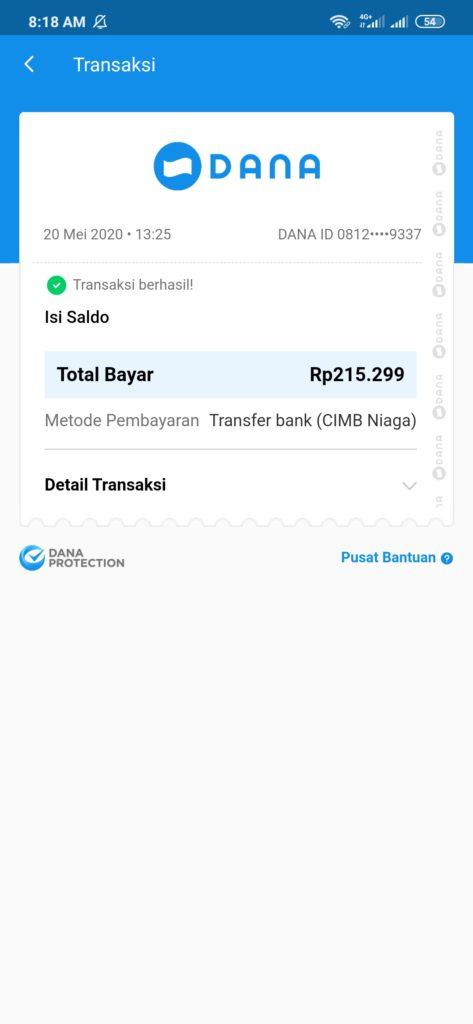 Bukti Penarikan Uang dari Xp Sindonesia