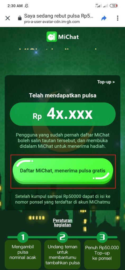 Aplikasi Michat download aplikasi dari linknya