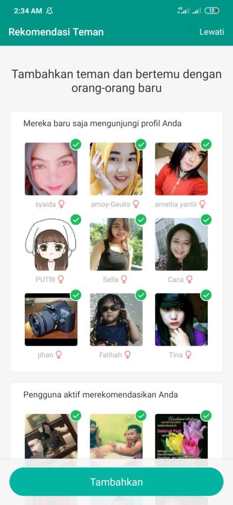 Aplikasi Michat tambahkan teman