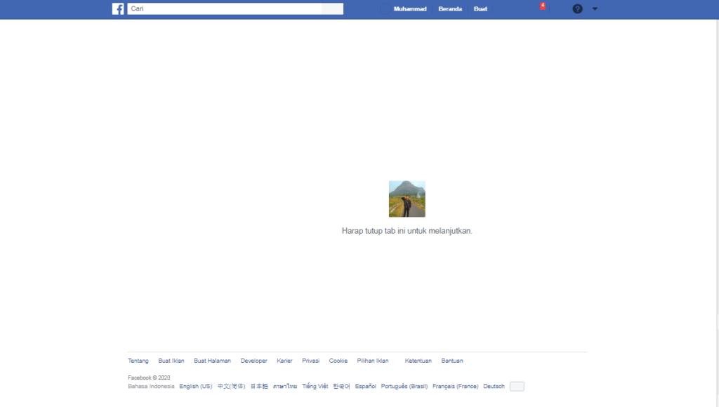 Cara Posting Artikel Karena Pesan Anda tidak dapat dikirim karena berisi konten telah dilaporkan di Facebook