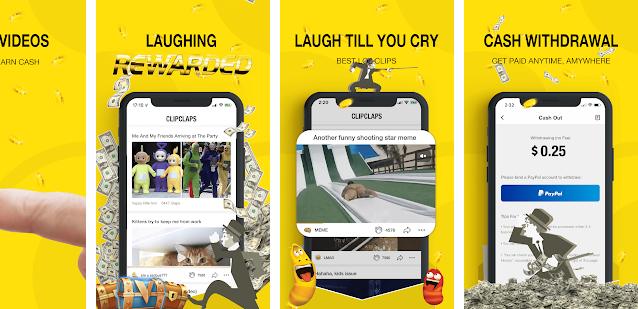 Aplikasi Penghasil uang ClipClaps