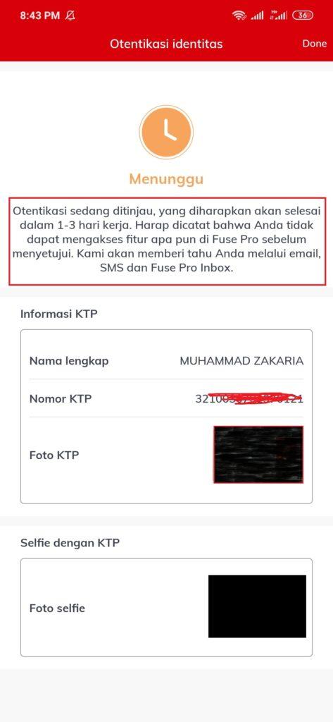 cara verifikasi kyc fuse Pro