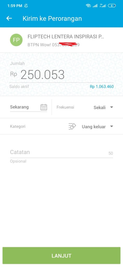 Aplikasi Flip kirim uang dari Jenius ke BCA gratis