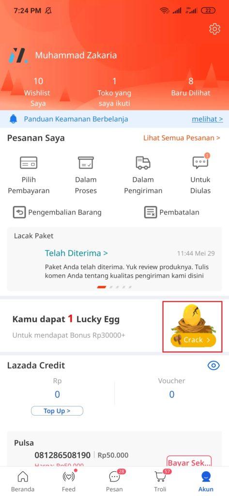Evint Lucky Egg
