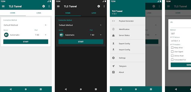 Aplikasi TLS Tunnel Internet gartis untuk android