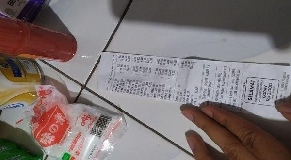 Bukti Struk pembayaran dari alfamart dengan Gopay