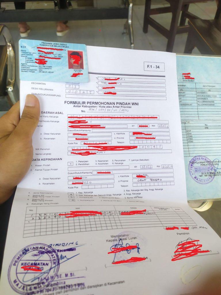 Surat keterangan pindah dari desa