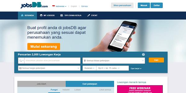 Jobsdb Situs lowongan kerja teroercaya di Indonesia