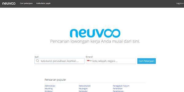 Situs lowongan kerja terpercaya Neuvoo.com