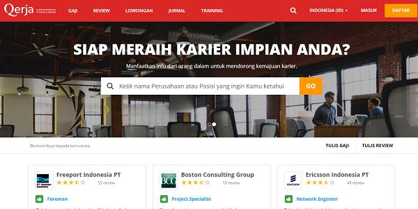 Situs lowongan kerja terbaik Qerja.com