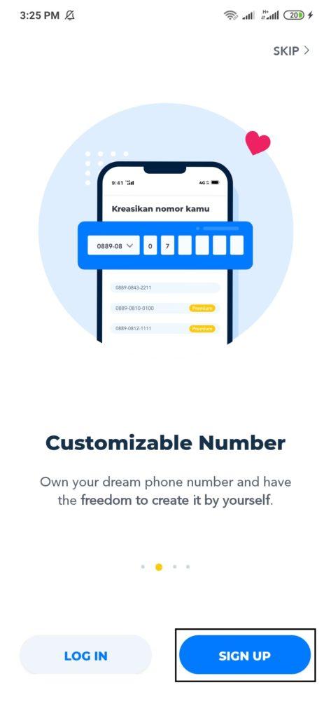 Cara Membeli Nomor Cantik  dari Aplikasi Switch