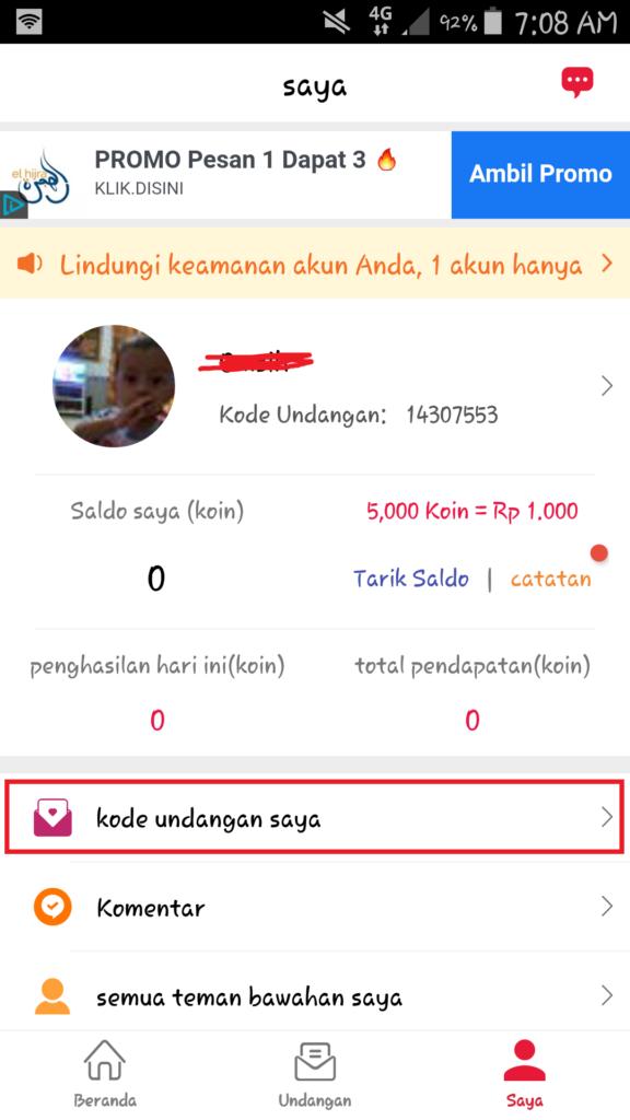 kode undangan Aplikasi Cashzine  Cara Mendapatkan Uang Gratis dari Aplikasi Cashzine