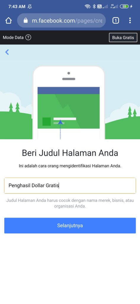 Membuat Judul halaman di facebook